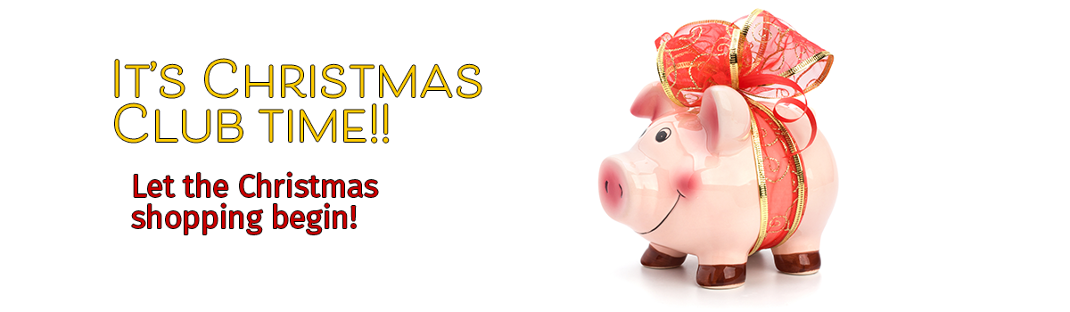 piggy bank with holiday bow